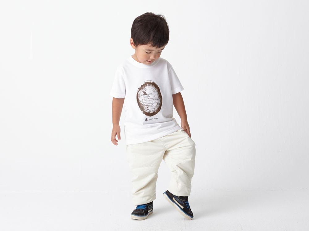 Kid's Printed Tshirt:Woodcut 2 White1