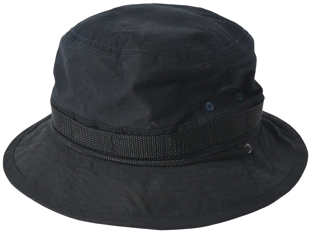 Paraffin Wax Safari Hat 2 Navy0