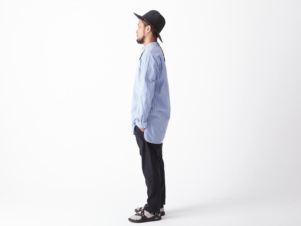 Striped Long Shirt XL Blue2