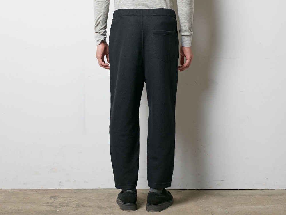 Wool Tight Knit Pants L Black4