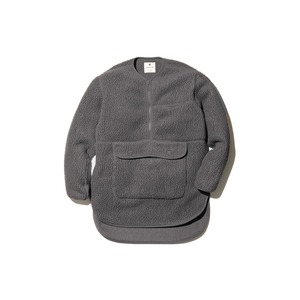 Thermal Boa Fleece Pullover M Grey
