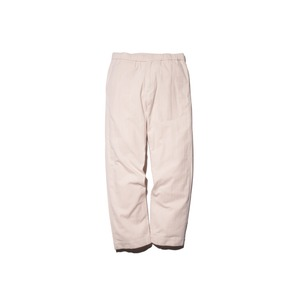 Organic Cotton Suede Easy Pants XL Ecru