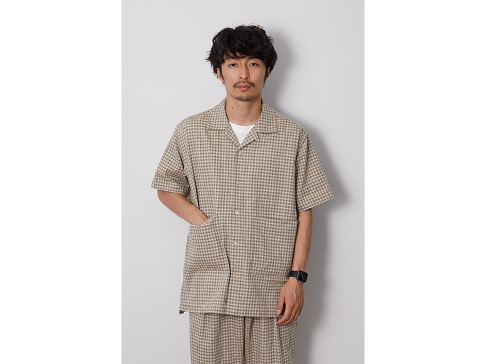 C/L Panama Shirt M BlackCheck