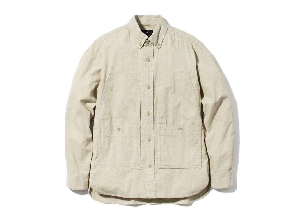 Camping Corduroy Shirt M Ecru0