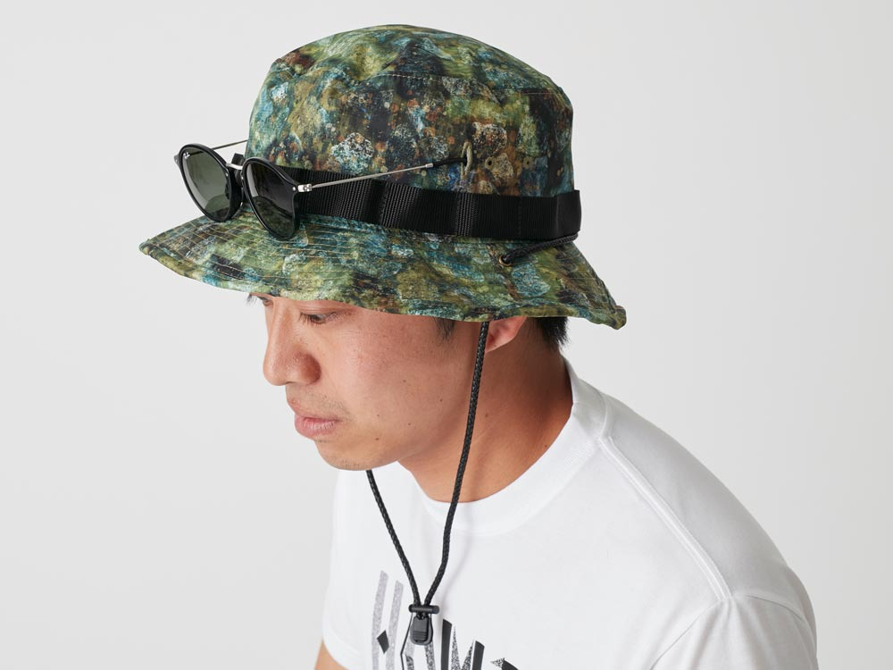Printed Packable Hat 2 Green2