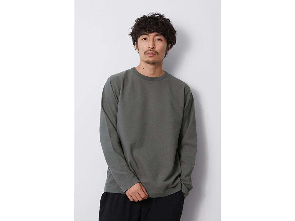 Co/Pe Dry L/S Pullover M Lightgrey