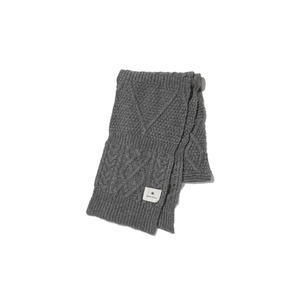 Alpaca Knit Stole One Grey
