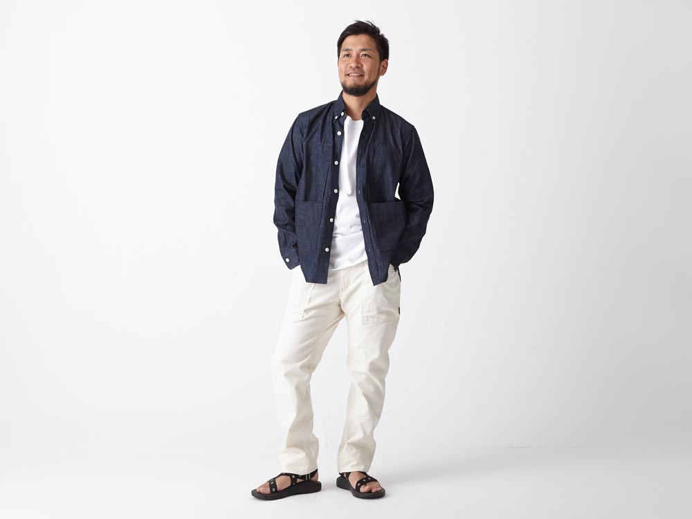 Dungaree Field Shirt  M Indigo1