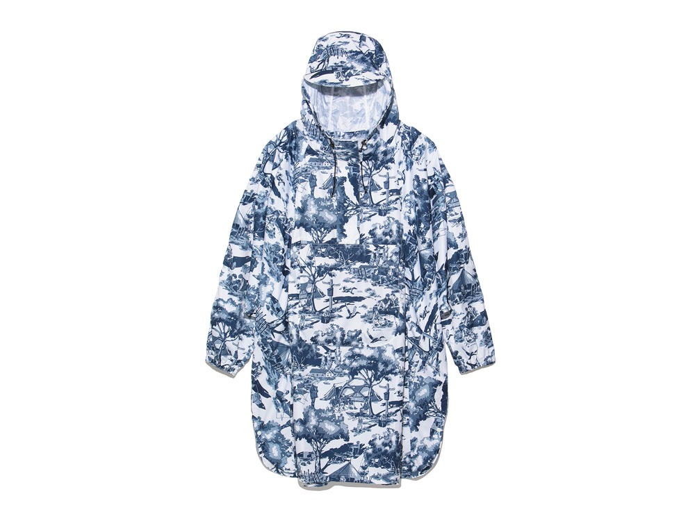 Printed Poncho:Camp Field 2 White0