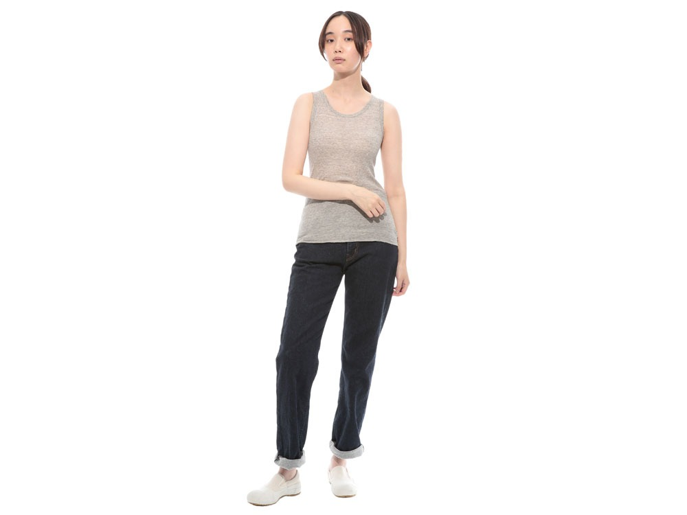 W's Ultimate Pima Rib Tank top 2 M.Grey1