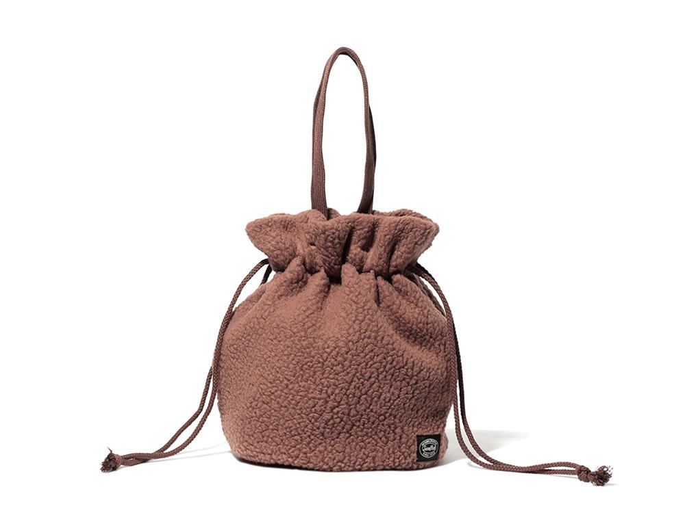 Thermal Boa Fleece Kinchaku One Brown