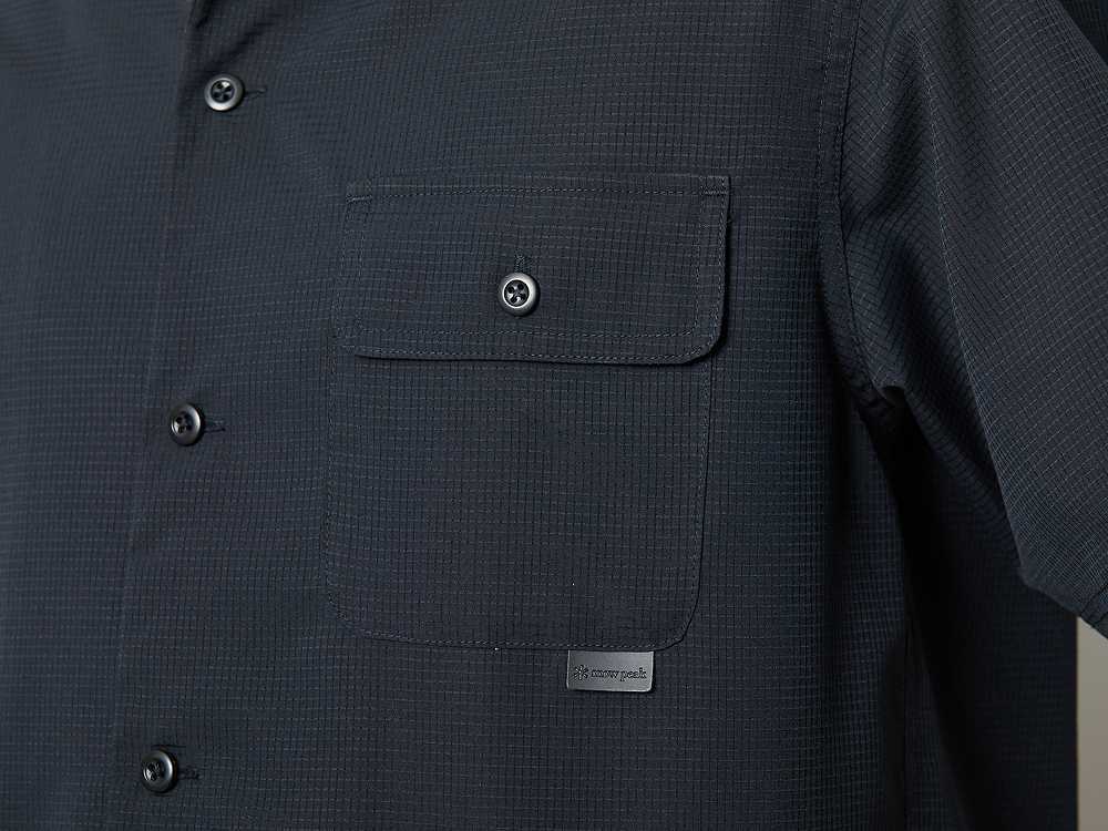 クイックドライ アロハ シャツ S ブラック