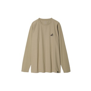 MM Mountain Logo L/S Tee M Beige
