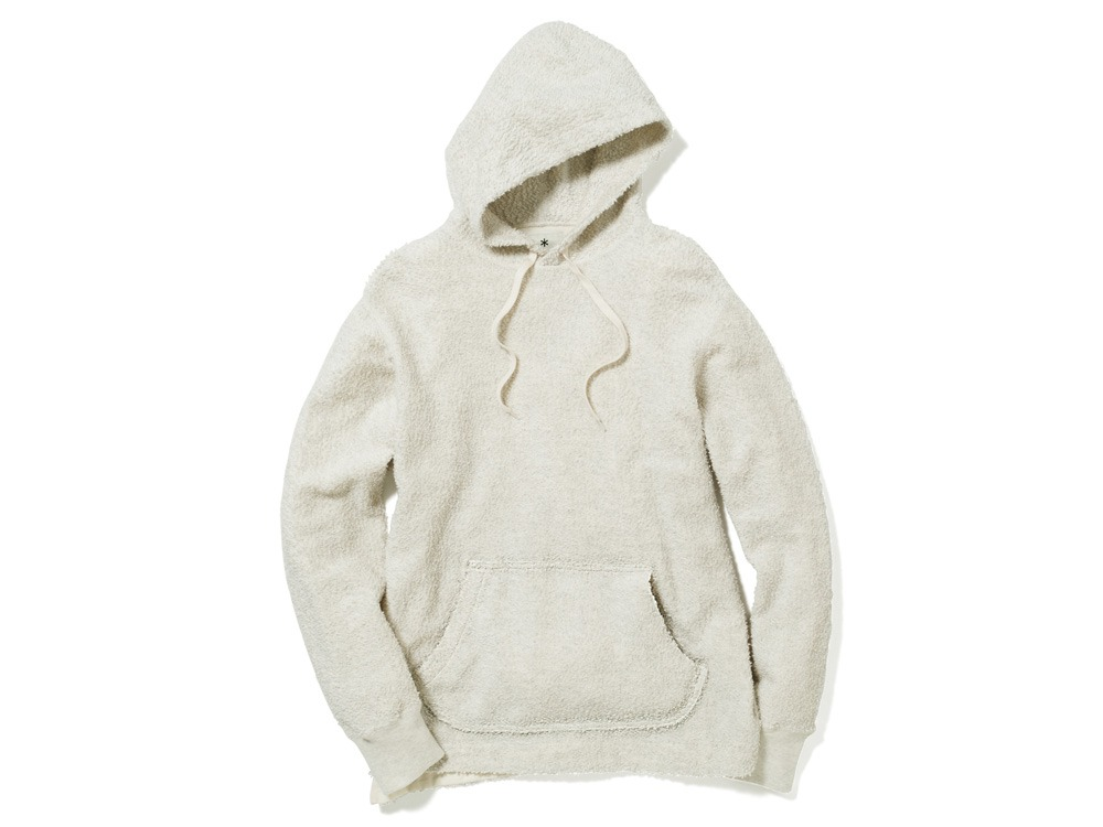 Long Loop Sweat Hoodie L White0