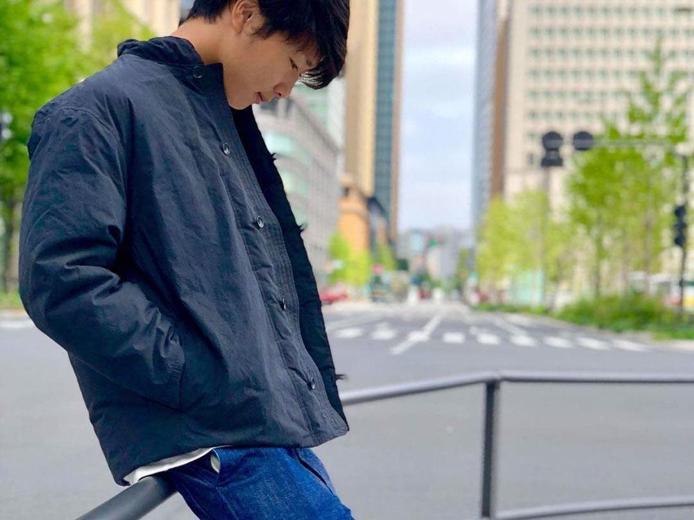 インディゴダウンチャイナジャケット XL ブラック
