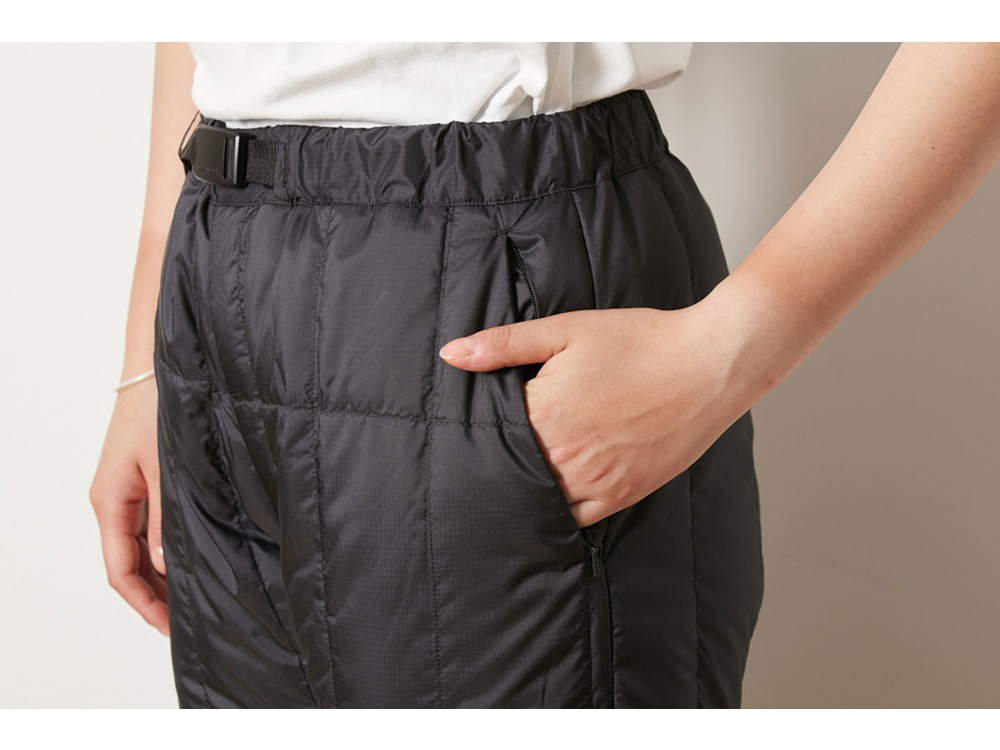 Recycled Middle Down Pants 1 Black