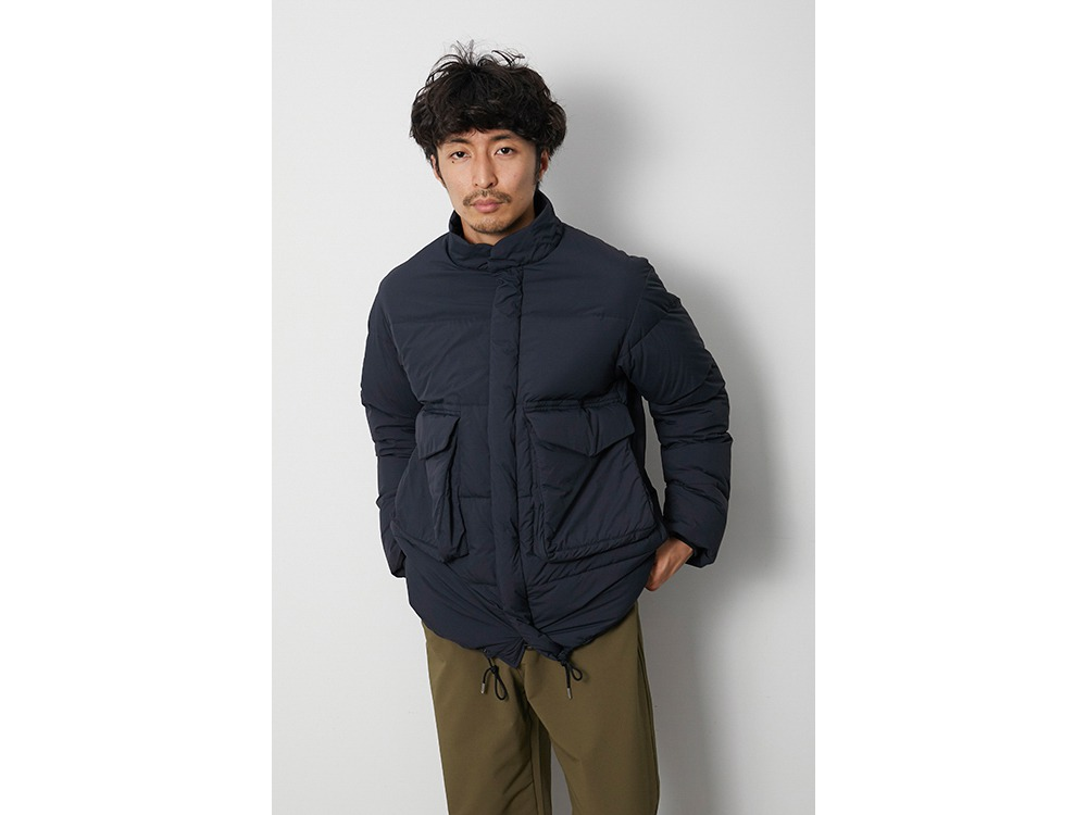 Recycled Ny Ripstop Down Jacket S BK