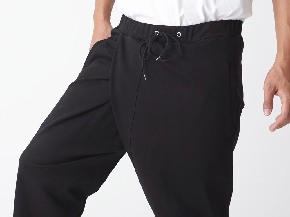Cotton Ponte Thai Pants L Black7