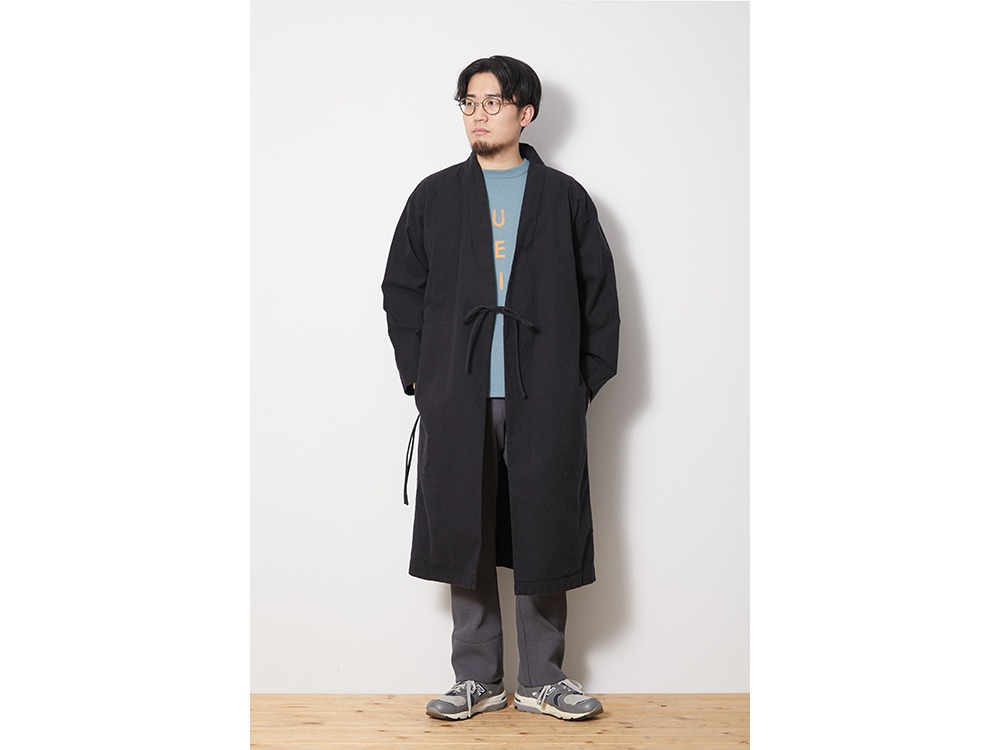 NORAGI Long Jacket 1 EcruBlack