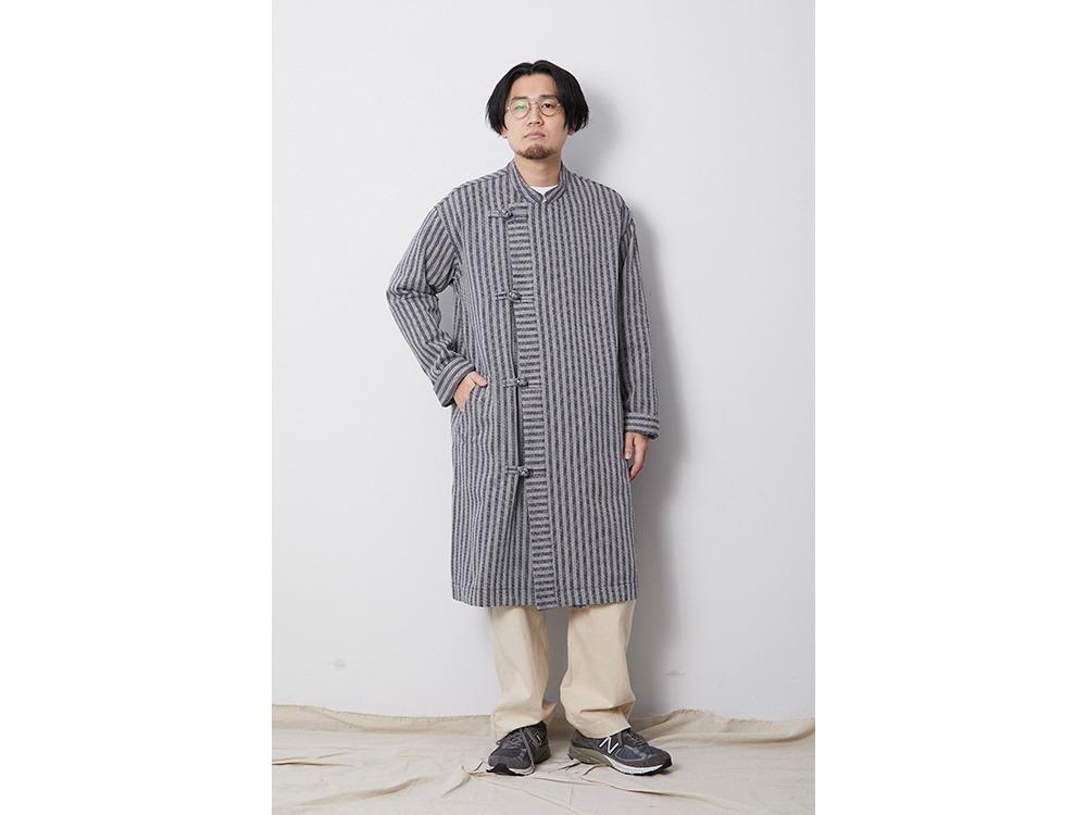 Cotton Herringbone Stripe CN Coat M NV
