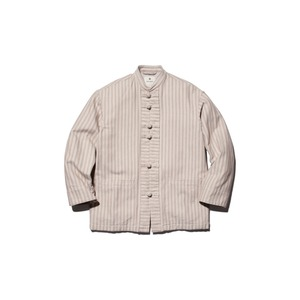 Cotton Herringbone Stripe China Jacket
