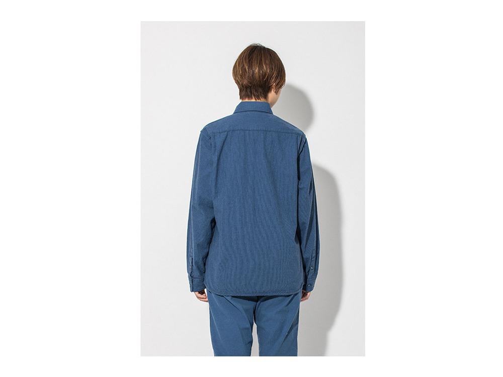 現代のワークシャツ  L Blue
