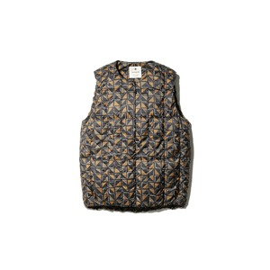 Printed Recycled Middle Down Vest