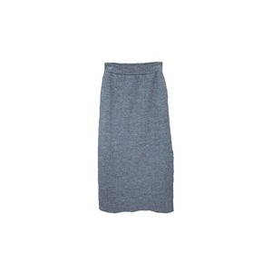 Wool Linen/Pe Skirt 1 Grey
