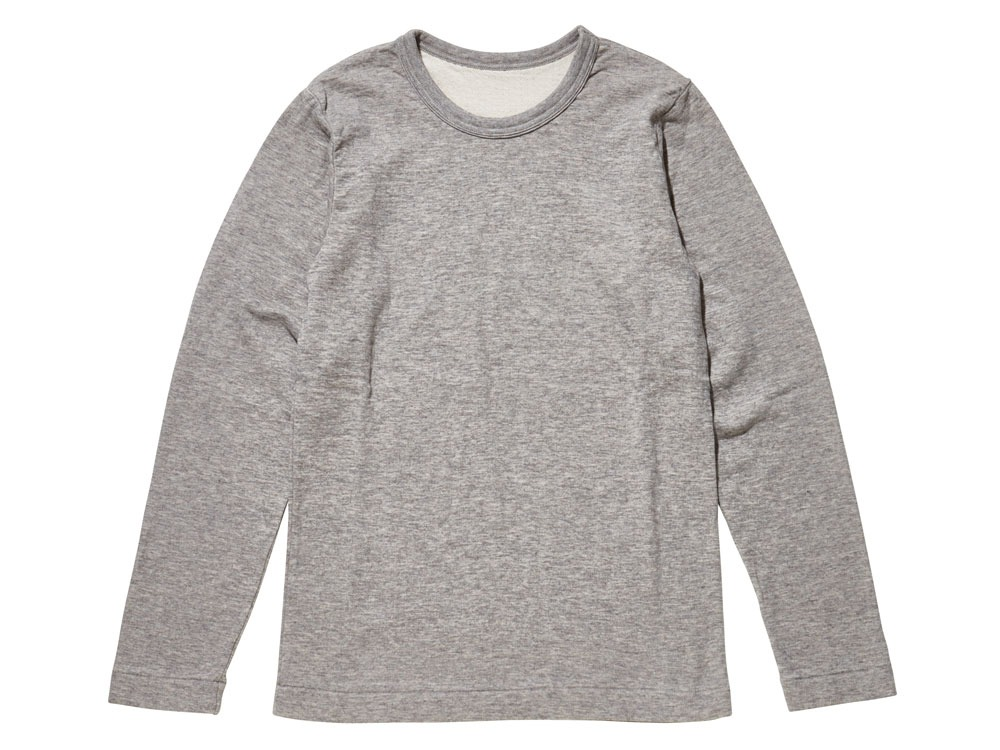 Yak/Cotton Double Knit Long Sleeve S M.Grey0