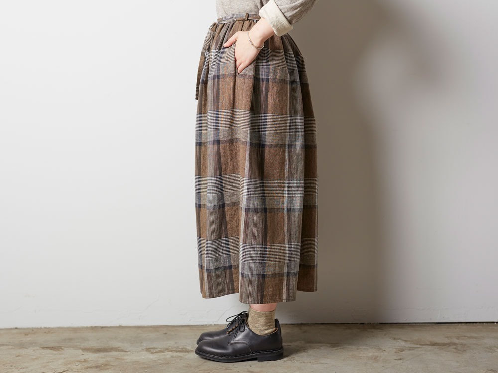 KASURI Skirt 1 Brown2