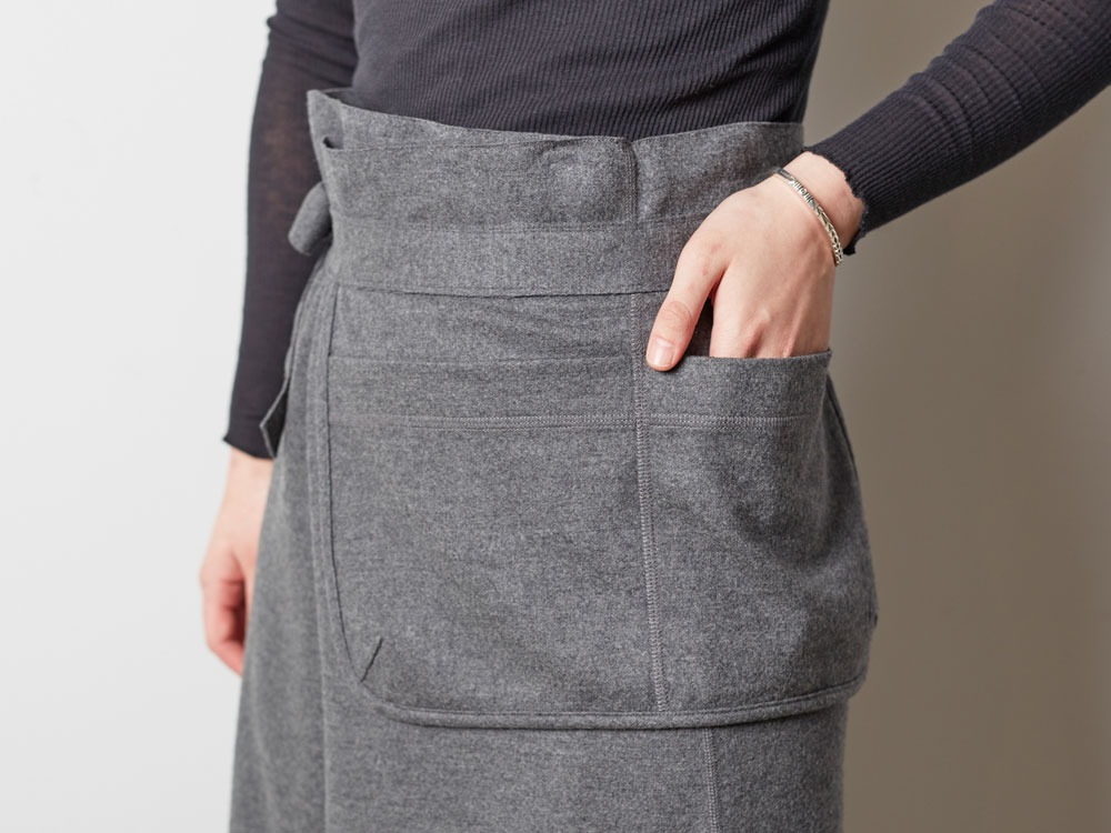 Wool Tight Knit Skirt 3 Grey4