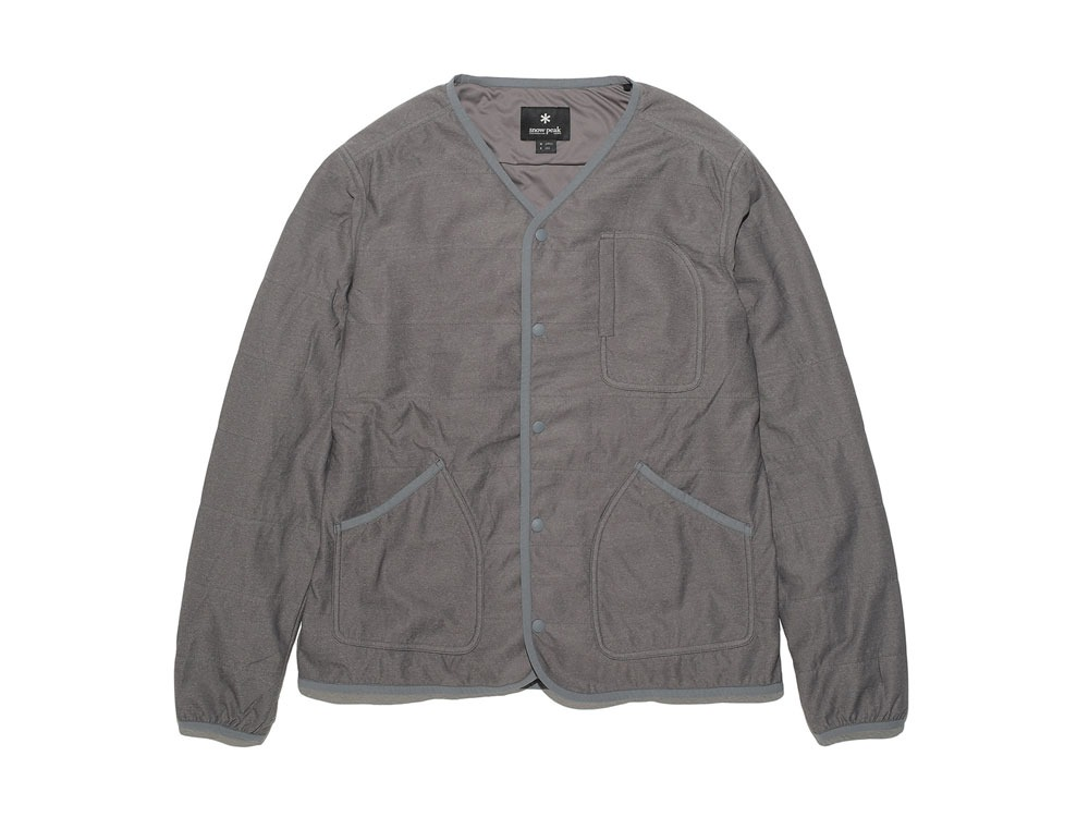 FlexibleInsulated Cardigan 2 Grey0