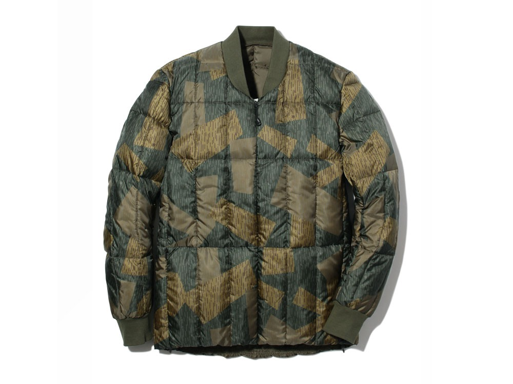Printed Inner Down Jacket 1 Olive0