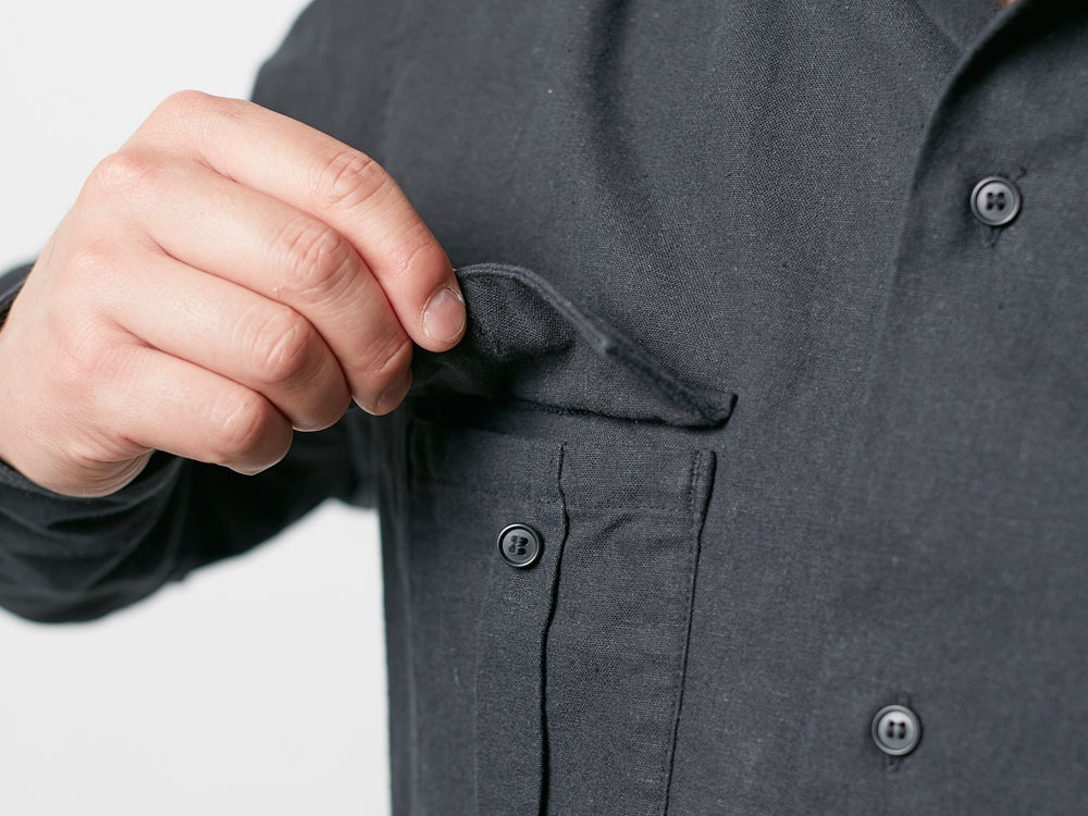 Safari Linen Shirt S Olive5