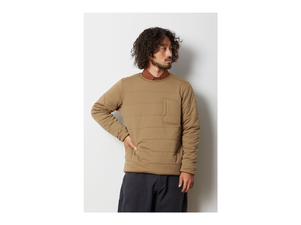 Flexible Insulated Pullover L Brown