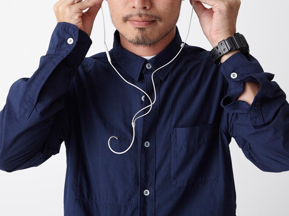 Organic Typewriter Shirt S Navy5