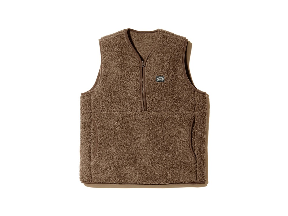 Wool Fleece Vest XL Brown