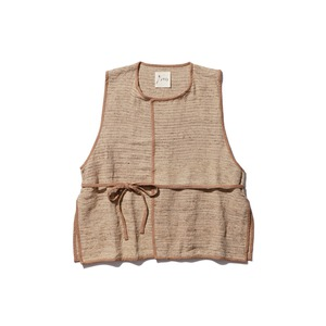 Hand-woven Wild Silk Tussah Vest