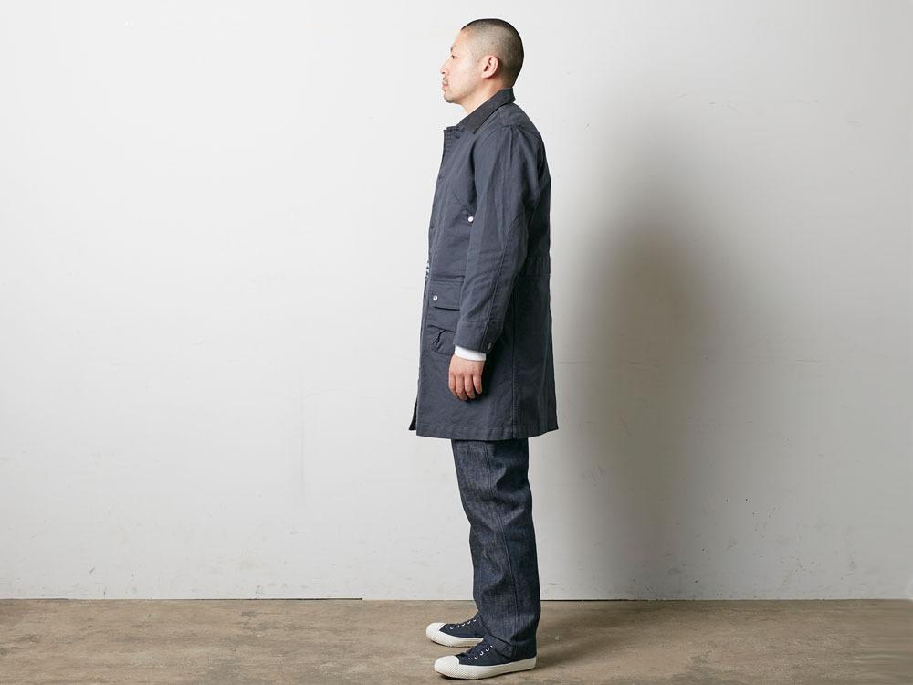 TAKIBI Shop Coat S Navy3