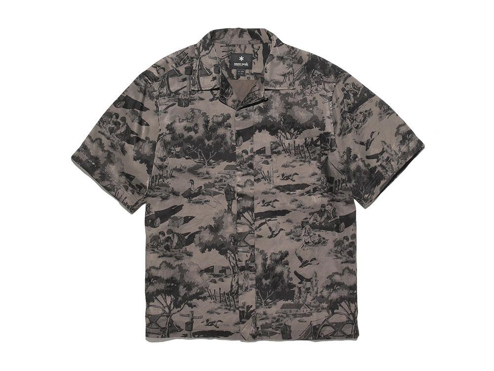 Camp Aloha Shirt M Olive0