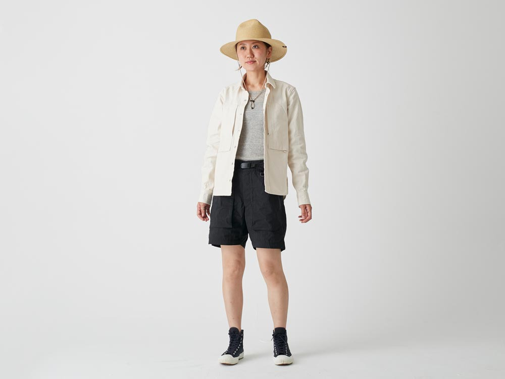 Indigo C/N  Anorak Shorts 2 Black1