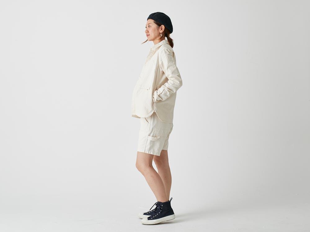 Okayama OX Shorts 2 Ecru3