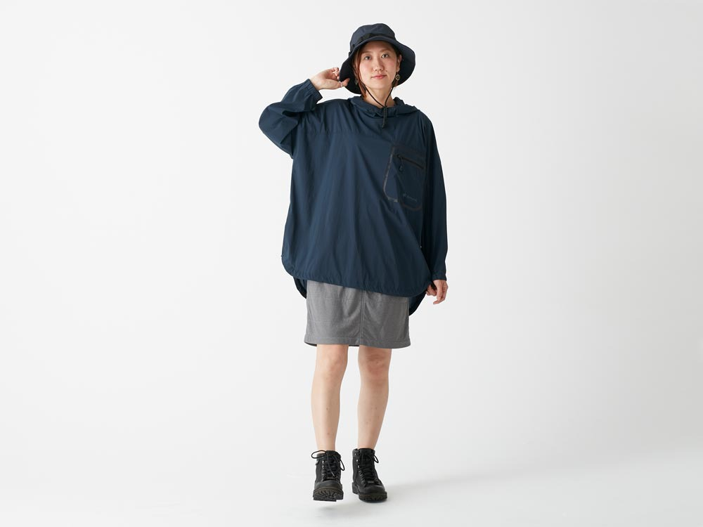 Rain&Wind Resistant Poncho L Olive1