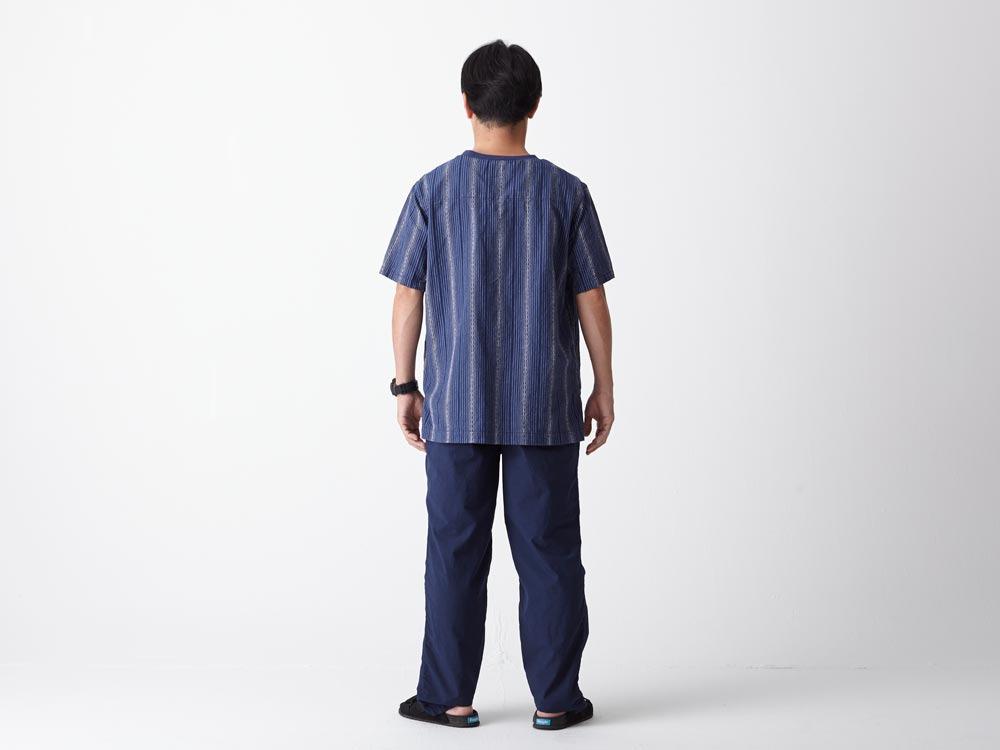 Dobby Striped Pullover M Navy3