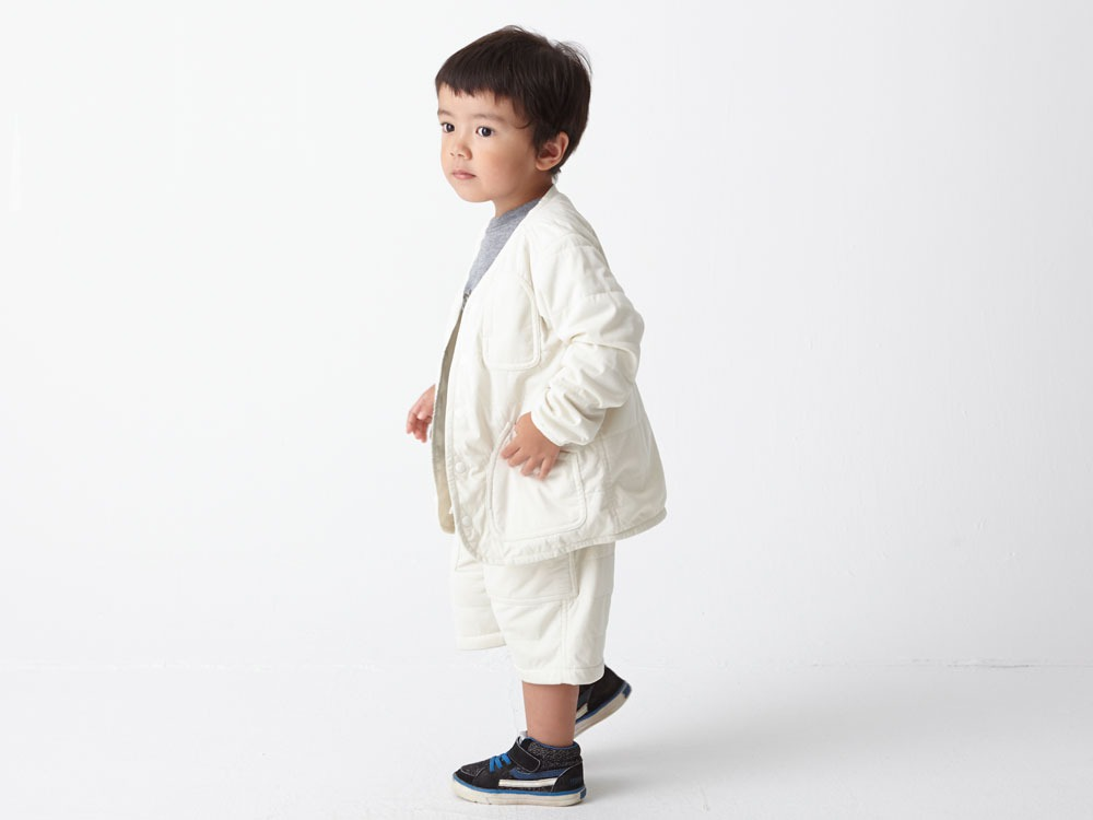 Kids Flexible Insulated Cardigan 1 Grey3