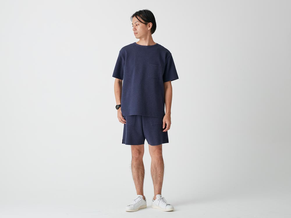 Cotton Dry Pullover L Navy1
