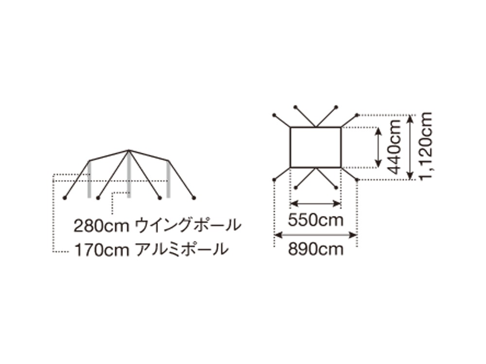 """HDタープ """"シールド""""・レクタ(L)"""