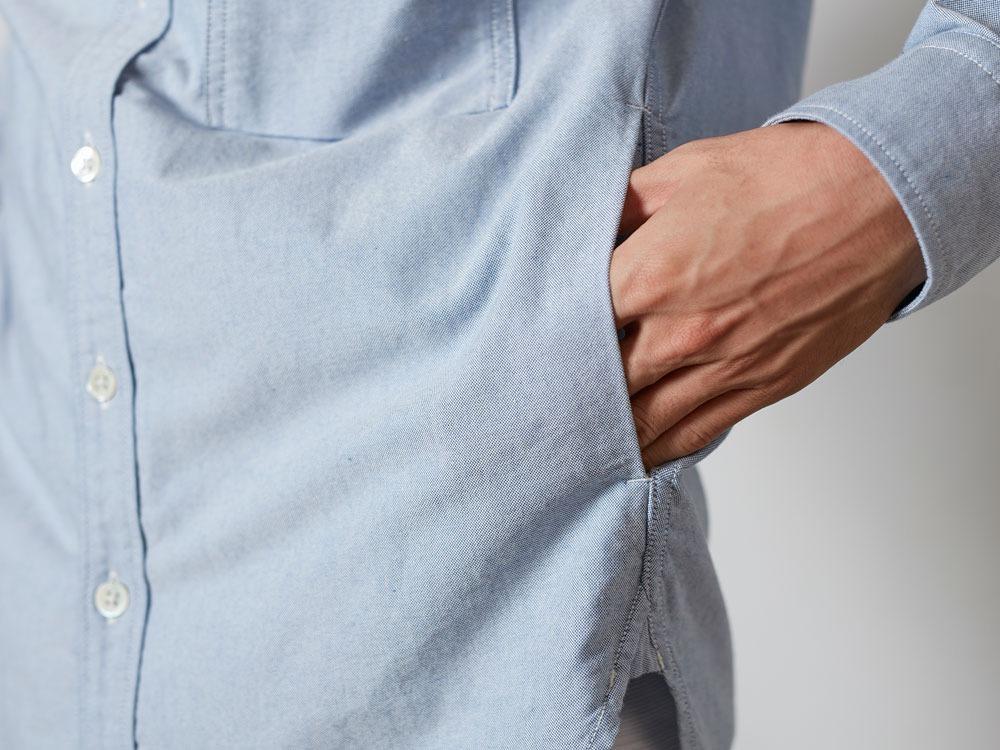 オーガニックオックスシャツ  S ホワイト