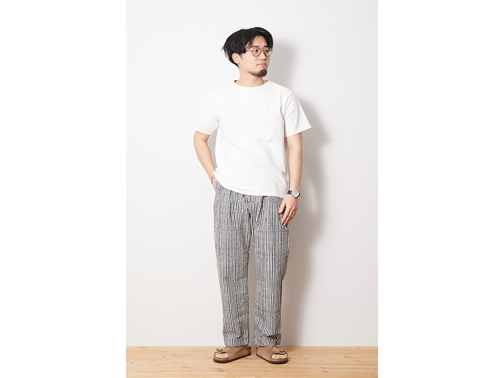 Printed Proof Canvas Pants M EcruNavy