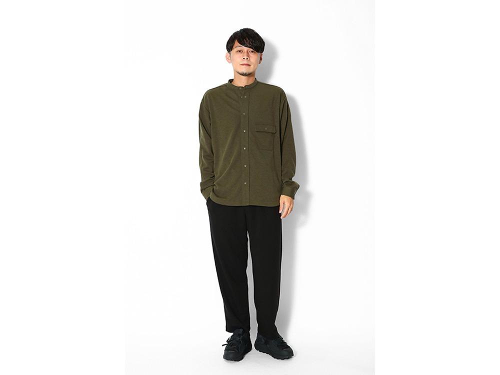 Pe/Wo Grid Shirt M Olive